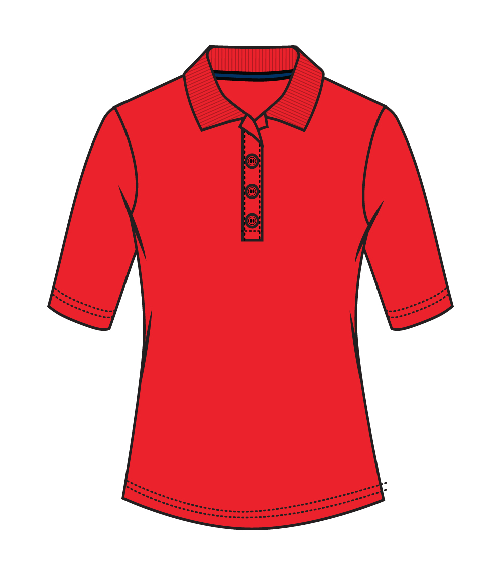 3/4 Sleeve Performance Polo Red