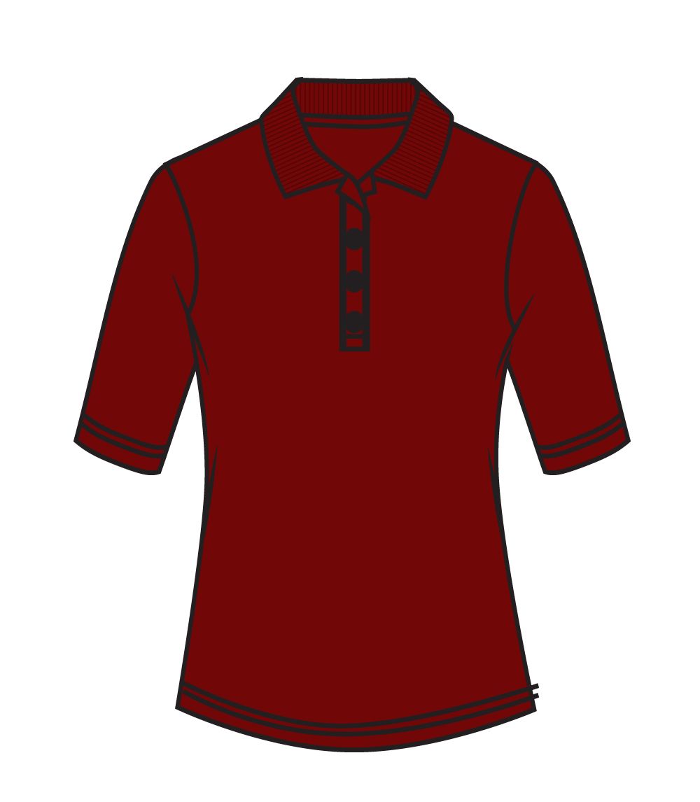 3/4 Sleeve Performance Polo Burgundy
