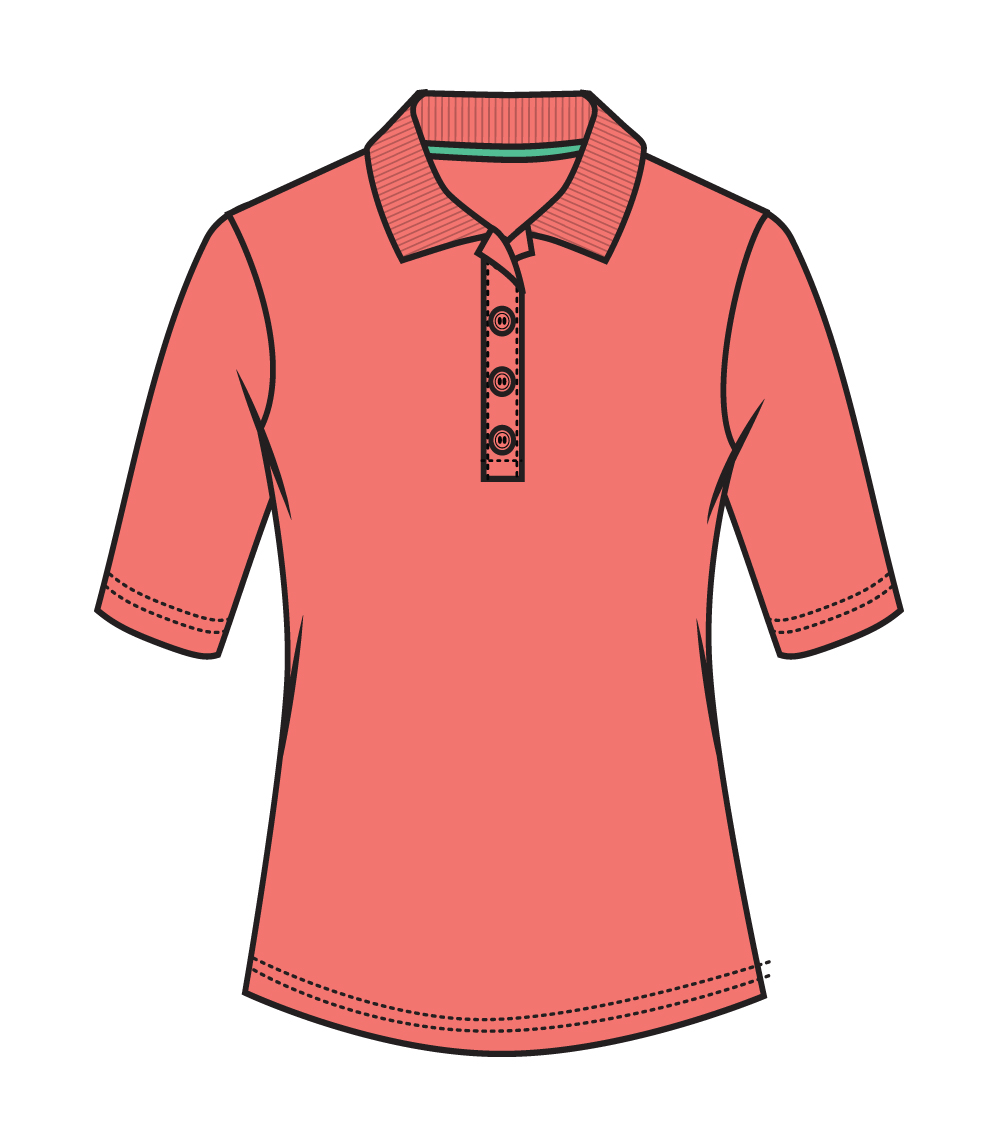 3/4 Sleeve Performance Polo Coral