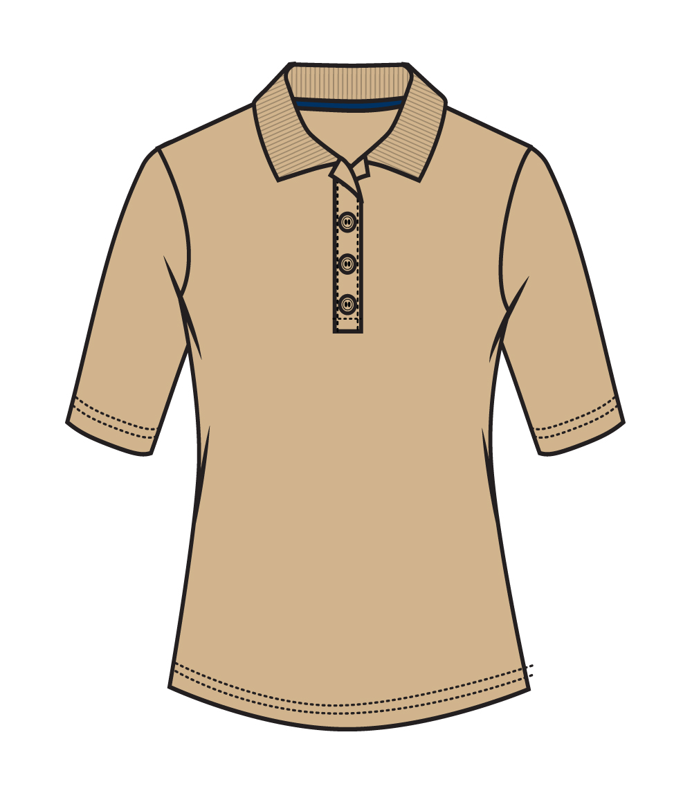 3/4 Sleeve Performance Polo Tan
