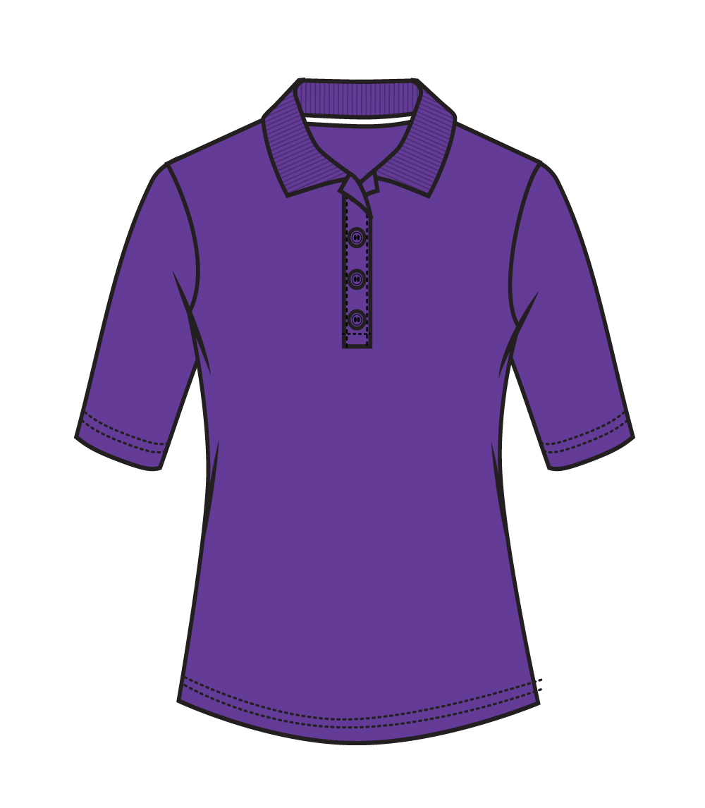 3/4 Sleeve Performance Polo Puple
