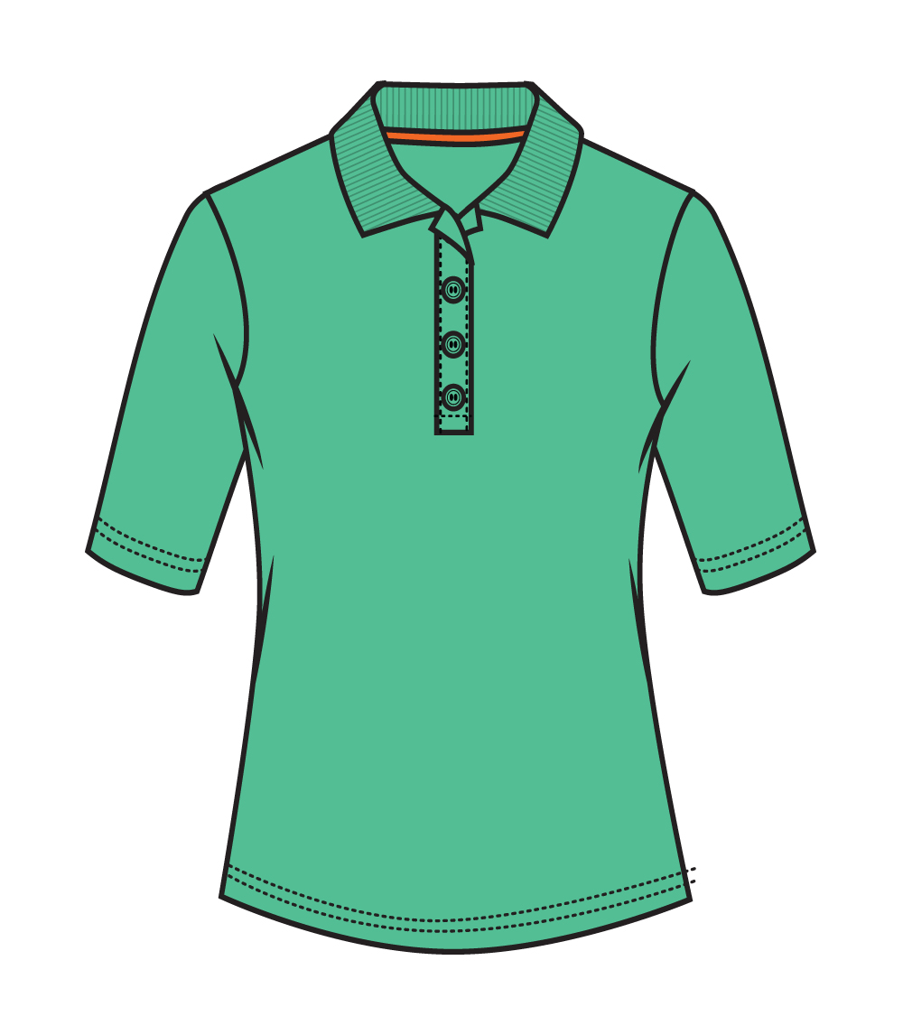 3/4 Sleeve Performance Polo Sea Green