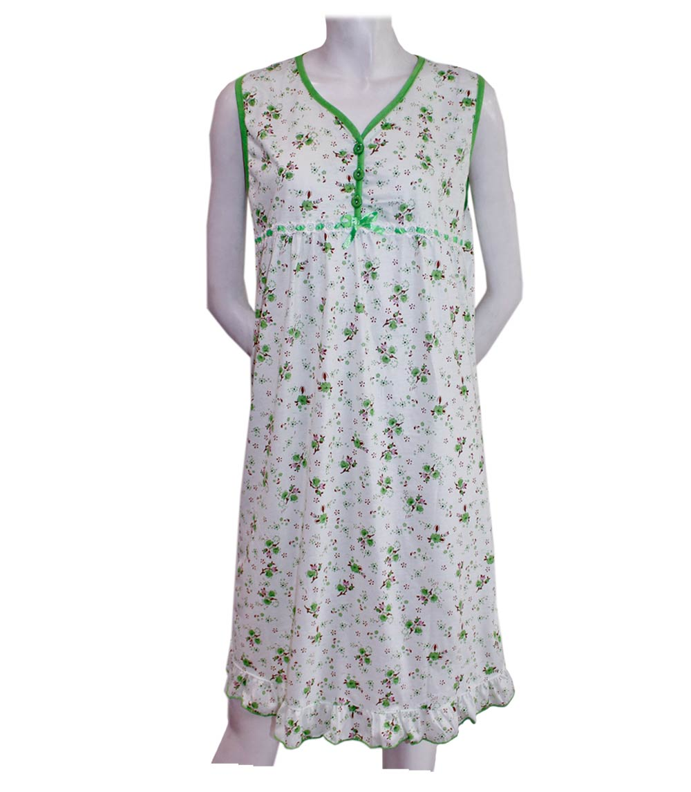 Ladies Sleeveless Printed Night Gown