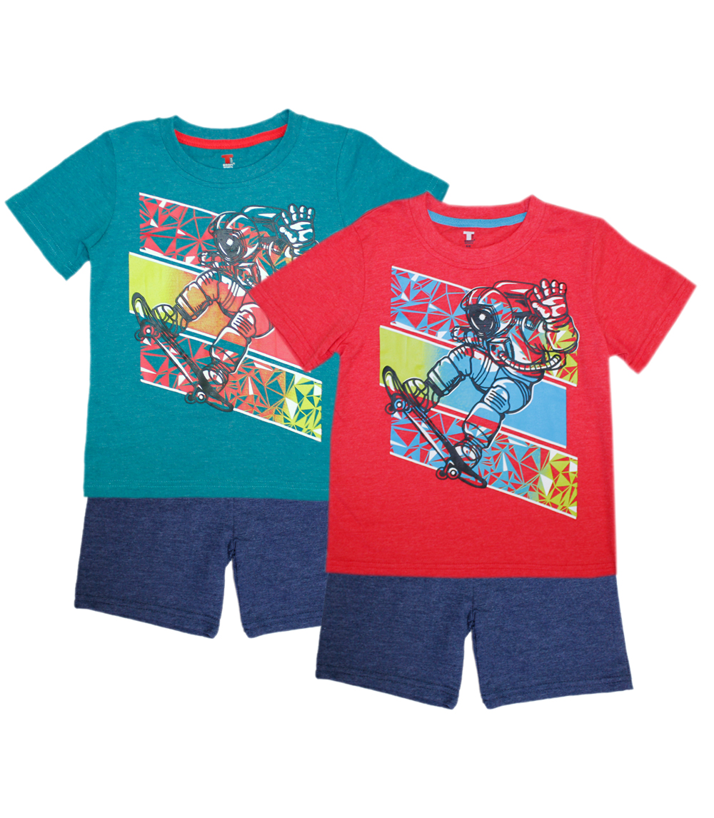 TEDDY BOOM SPORTS Infant Top And French Terry Shorts