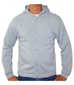 Zip Front Fleece Hoodie Jacket H.Grey_product_product_product_product