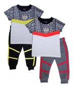 S1OPE 4-7 Boys Screen Top and Jogger Pant with Taping