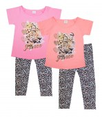 GIRLS PINK Infant Fierce Leopard Screen Top and Animal Print Legging