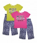 GIRLS PINK GRL Power Screen Criss Cross Top with Palazzo Pants