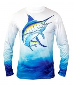 Performance L/S Crew Neck Swordfish Graphic