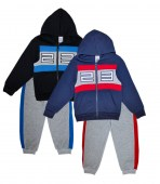 S1ope 4-7 zip front fleece hoody with 23 applique and jogger pants