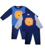 Teddy Boom Lion Applique Crew Neck Fleece 2 pc Set